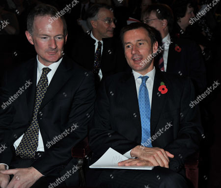 The Angel Awards at the Palace Theatre Charing Cross Road London John Penrose Mp Minister For Tourism and Heritage & Jeremy Hunt Mp Secretary of State For Culture Olympics Media and Sport (r)