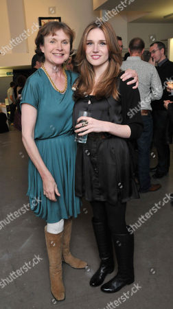 The Hammer Festival Launch Party at Idea Generation Gallery Chance Street Shoreditch London an Exhibition of Photographs and Posters From the Heyday of Hammer Horror Film and Book Launch Hammer Glamour Madeline Smith with Her Daughter Emily Lawrance
