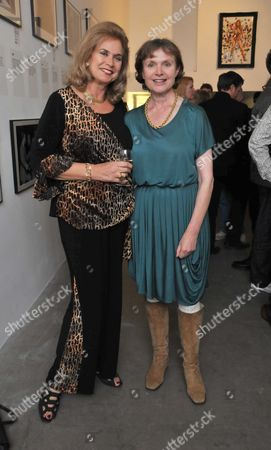 The Hammer Festival Launch Party at Idea Generation Gallery Chance Street Shoreditch London an Exhibition of Photographs and Posters From the Heyday of Hammer Horror Film and Book Launch Hammer Glamour Valerie Leon & Madeline Smith