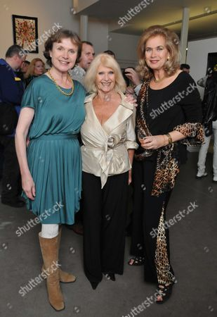 The Hammer Festival Launch Party at Idea Generation Gallery Chance Street Shoreditch London an Exhibition of Photographs and Posters From the Heyday of Hammer Horror Film and Book Launch Hammer Glamour Valerie Leon Vera Day & Madeline Smith