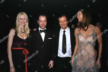 The Miramax Party at the Sanderson Hotel Following the Bafta Awards Claudia Schiffer & Matthew Vaughn with David Heyman & His Wife