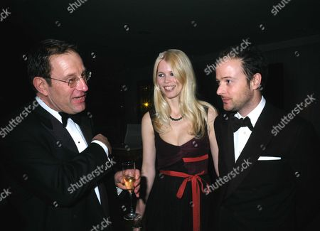 The Miramax Party at the Sanderson Hotel Following the Bafta Awards Richard Desmond with Matthew Vaughn & His Wife Claudia Schiffer