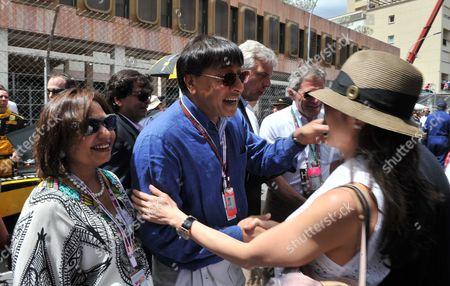 The Monaco Grand Prix Race Day Sunday Lakshmi Mittal and Usha Mittal & Michelle Yeoh