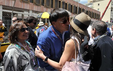 The Monaco Grand Prix Race Day Sunday Lakshmi Mittal and Usha Mittal and Jean Todt & Michelle Yeoh
