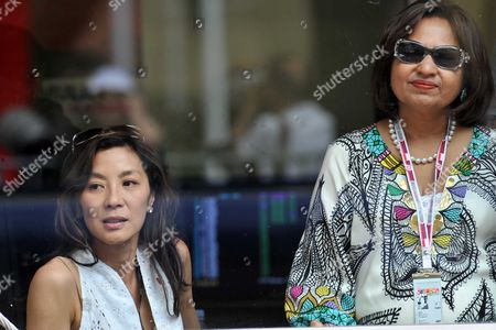 The Monaco Grand Prix Race Day Sunday Usha Mittal & Michelle Yeoh