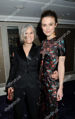 the Olivier Theatre Awards Arrivals and Drinks Reception at the Grosvenor House Hotel Keira Knightley with Her Mother Sharman Macdonald