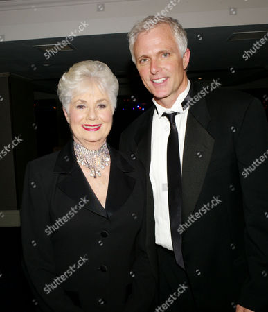 the Olivier Theatre Awards Arrivals and Drinks Reception at the Grosvenor House Hotel Shirley Jones and Patrick Cassidy (presenters of Best Actor in A Musical)