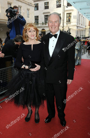 the Olivier Theatre Awards Arrivals and Drinks Reception at the Grosvenor House Hotel Tim Pigott Smith with His Wife Pamela Miles