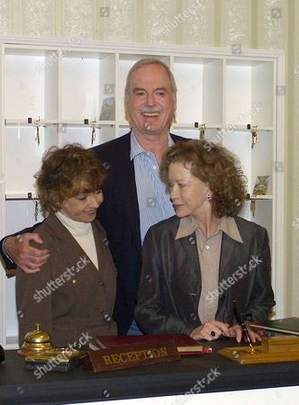 The Original Cast of Fawlty Towers Were Reunited to Celebrate the 30th Anniversary of the Programme at the Naval & Military Club St James Square London Prunella Scales John Cleese Connie Booth