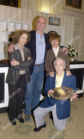 The Original Cast of Fawlty Towers Were Reunited to Celebrate the 30th Anniversary of the Programme at the Naval & Military Club St James Square London Connie Booth John Cleese Prunella Scales & Andrew Sachs