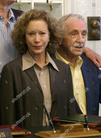 The Original Cast of Fawlty Towers Were Reunited to Celebrate the 30th Anniversary of the Programme at the Naval & Military Club St James Square London Connie Booth Andrew Sachs