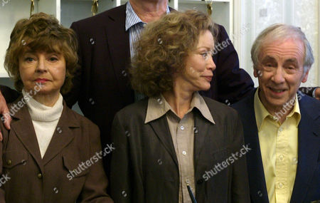The Original Cast of Fawlty Towers Were Reunited to Celebrate the 30th Anniversary of the Programme at the Naval & Military Club St James Square London Connie Booth Andrew Sachs and Andrew Sachs