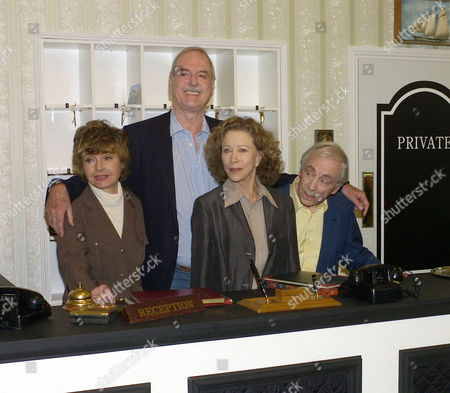 The Original Cast of Fawlty Towers Were Reunited to Celebrate the 30th Anniversary of the Programme at the Naval & Military Club St James Square London Prunella Scales John Cleese Connie Booth & Andrew Sachs