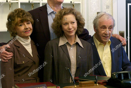 The Original Cast of Fawlty Towers Were Reunited to Celebrate the 30th Anniversary of the Programme at the Naval & Military Club St James Square London Prunella Scales Connie Booth & Andrew Sachs