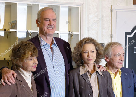 The Original Cast of Fawlty Towers Were Reunited to Celebrate the 30th Anniversary of the Programme at the Naval & Military Club St James Square London Connie Booth John Cleese Andrew Sachs and Andrew Sachs