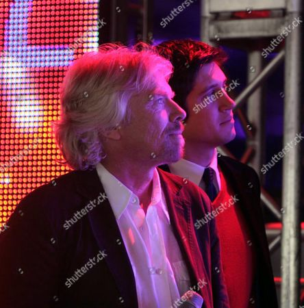 Opening Virgin Terminal 3 at Heathrow Airport Richard Branson and Vernon Kay