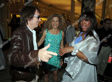 The Story of the Supremes From the Mary Wilson Collection Private View at the V & A Cromwell Road London Mary Wilson with Bill Wyman and His Wife Suzanne Accosta