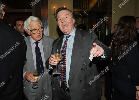 the Threadneedle and Spectator Parliamentarian Awards Lunch in the Ballroom Claridges Lord Geoffrey Howe and Kenneth Clarke
