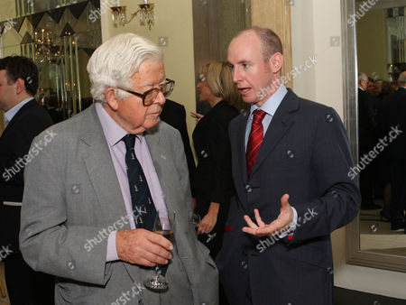 the Threadneedle and Spectator Parliamentarian Awards Lunch in the Ballroom Claridges Lord Geoffrey Howe and Daniel Hannan