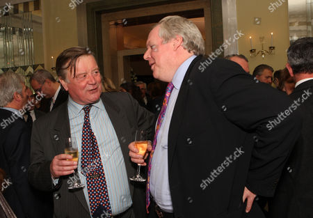 the Threadneedle and Spectator Parliamentarian Awards Lunch in the Ballroom Claridges Geoffrey Howe and Adam Bolton