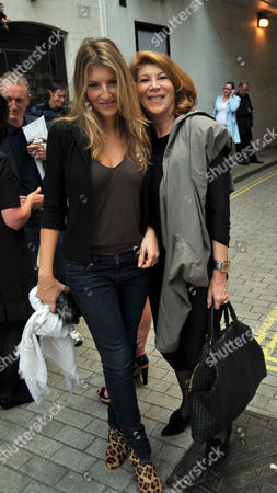 Stock Picture of Tracey Emin Private View of 'Those Who Suffer Love' at the White Cube Gallery St James London Nona Summers with Her Daughter Tara Summers