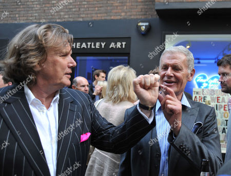 Tracey Emin Private View of 'Those Who Suffer Love' at the White Cube Gallery St James London Theo Fennell Tony King