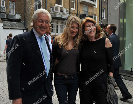 Stock Photo of Tracey Emin Private View of 'Those Who Suffer Love' at the White Cube Gallery St James London Martin & Nona Summers with Thier Daughter Tara Summers