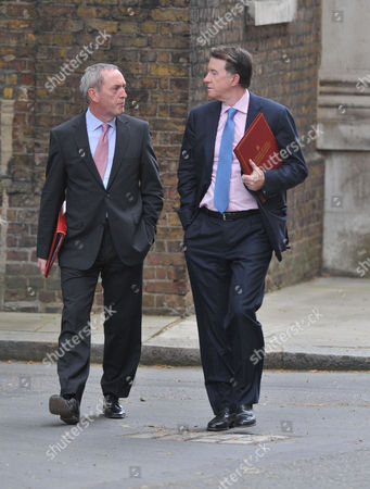 Tuesday Morning Cabinet Meeting at Number 10 Downing Street Westminster London John Hutton & Lord Peter Mandelson