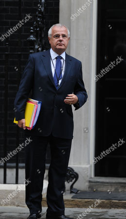 Stock Photo of Tuesday Morning Cabinet Meeting at Number 10 Downing Street London Paul Myners Baron Myners Cbe is Financial Services Secretary (a Position Sometimes Referred to As City Minister) Outside Number 10 Downing Street