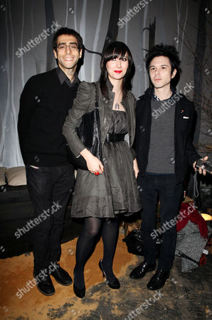 Uk Premiere Afterparty For 'Where the Wild Things Are' at the Old Post Office New Oxford Street Yeah Yeah Yeahs - Brian Chase Karen Orzolek and Nick Zinner