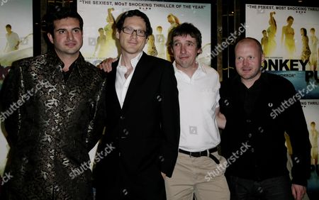Uk Premiere of 'Donkey Punch' at the Empire Leicester Square Olly Blackburn (director) Angus Lamont (producer) David Bloom (co-writer) Mark Herbert (ex-producer)