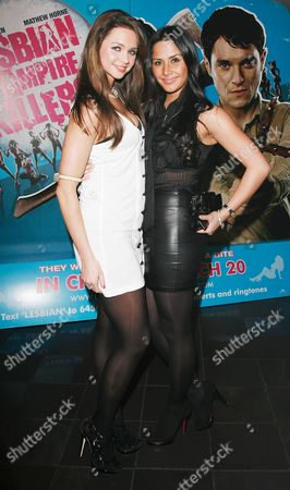 Uk Premiere of 'Lesbian Vampire Killers' at the Vue Leicester Square Margarita Hall and Sianad Gregory
