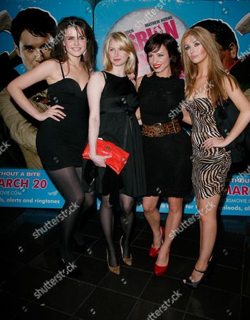 Uk Premiere of 'Lesbian Vampire Killers' at the Vue Leicester Square Emer Kenny Louise Dylan Lucy Gaskell and Ashley Mulheron