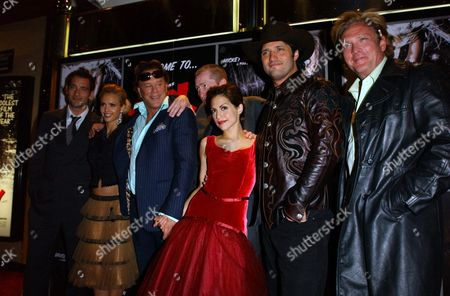 Uk Premiere of 'Sin City' at the Empire Leicester Square' Clive Owen Jessica Alba Mickey Rourke Frank Miller Brittany Murphy Robert Rodriguez and Michael Madsen