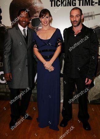 Jamie Foxx Jennifer Garner and Ashraf Barhom