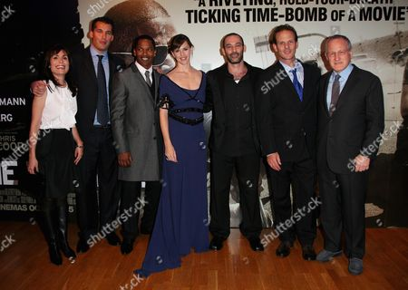 Producers and Cast - Sarah Aubrey Scott Stuber Jamie Foxx Jennifer Garner Ashraf Barhom Peter Berg and Michael Mann