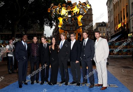 Uk Premiere of 'Transformers 2 Revenge of the Fallen' at the Odeon Leicester Square Tyrese Gibson Ramon Rodriguez Shia Labeouf Megan Fox and with the Director Michael Bay John Turturro Josh Duhamel and Matthew Marsden