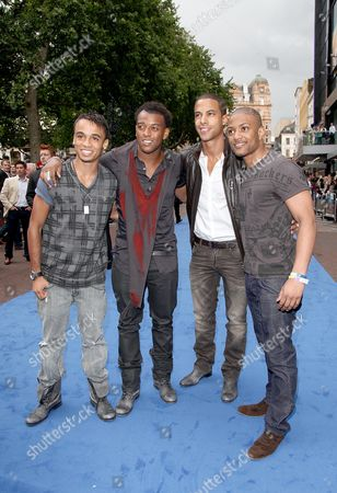 Uk Premiere of 'Transformers 2 Revenge of the Fallen' at the Odeon Leicester Square Jls - L-r Aston Merrygold Ortise Williams Marvin Humes and Jonathan Gill