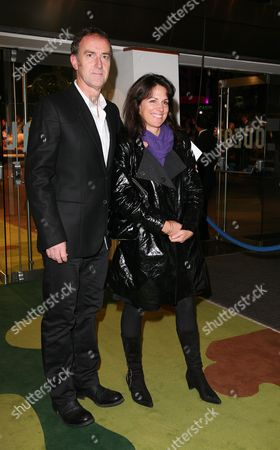 Uk Premiere of 'Tropic of Thunder' at the Odeon Leicester Square Angus Deayton and Lise Mayer