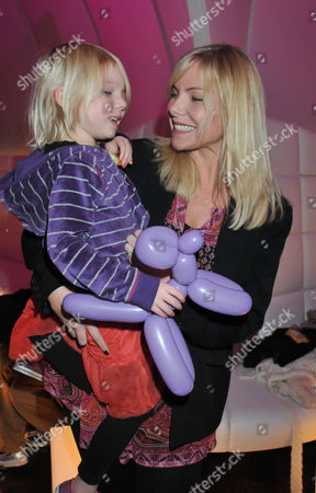Stock Picture of Vip Launch of 'Disney On Ice Presents Princess Wishes' at the O2 Greenwich Samantha Janus with Her Daughter Lily-rose Womack