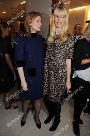 Vogue and Burberry Host A Drinks Reception For 'Fashion's Night Out' Sarah Brown and Claudia Schiffer