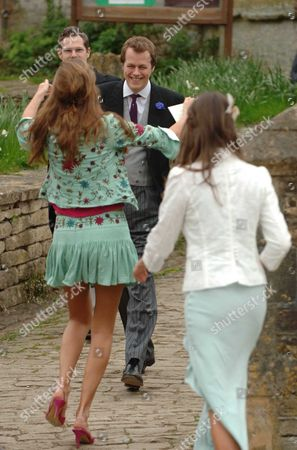 The Wedding of Laura Parker Bowles and Harry Lopes at St Cyriac's Church Lacock Wiltshire Tom Parker-bowels Greets Rose & Marina Hanbury