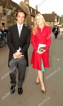 The Wedding of Laura Parker Bowles and Harry Lopes at St Cyriac's Church Lacock Wiltshire Lord Tom Lichfield with His Sister Rose