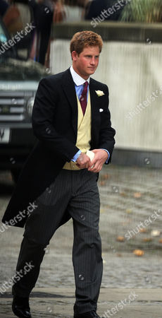 Wedding of Nicholas Van Cutsem and Alice Hadden-paton at the Guards Chapel and the Reception at Wellington Barracks Birdcage Walk Westminster London Prince Harry