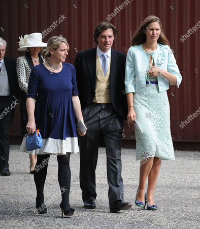 Wedding of Nicholas Van Cutsem and Alice Hadden-paton at the Guards Chapel and the Reception at Wellington Barracks Birdcage Walk Westminster London Laura Parker-bowles with Her Husband Harry Lopes