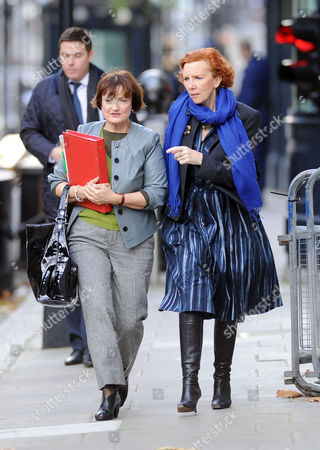 Weekly Cabinet Meeting at Number 10 Downing Street Westminster Tessa Jowell Mp and Janet Royall Baroness Royall of Blaisdon