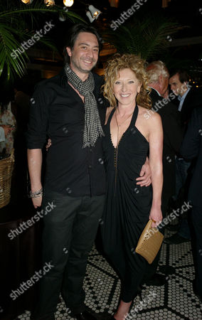 William & Harry Book Launch at Marco Pierre White's Wheeler's of St James Mayfair London Kelly Hoppen & Adam Meiklejohn
