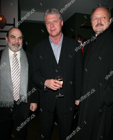 Stock Photo of World Premiere Afterparty For 'The Bank Job' at Glass Piccadilly David Suchet James Faulkner and Peter Bowles