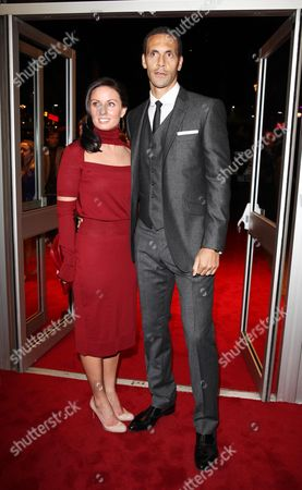 World Premiere For 'Dead Man Running' at the Odeon Westend Rio Ferdinand with His Wife Rebecca Ellison