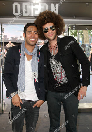 Stock Picture of World Premiere of 'Inception' at the Odeon Leicester Square Danyl Johnson and Jamie Archer